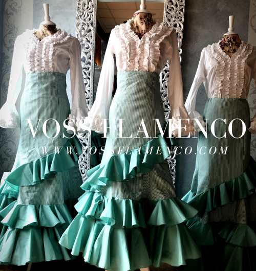 más vendido recoger auténtico Faldas Rocieras y Canasteras – VOSS FLAMENCO INTERNATIONAL