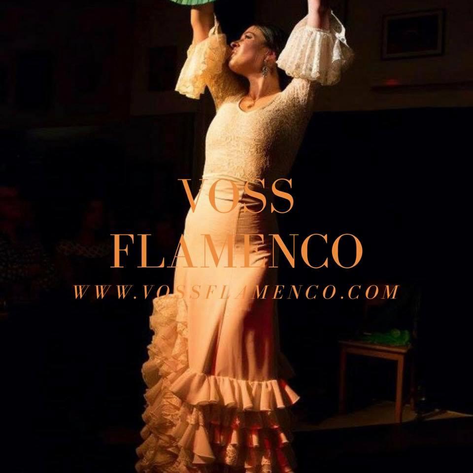 vestido ensayo y espectáculo flamenco
