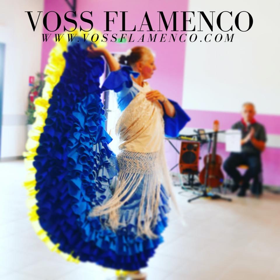 bata de cola flamenca