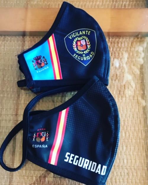 mascarillas vigilantes de seguridad
