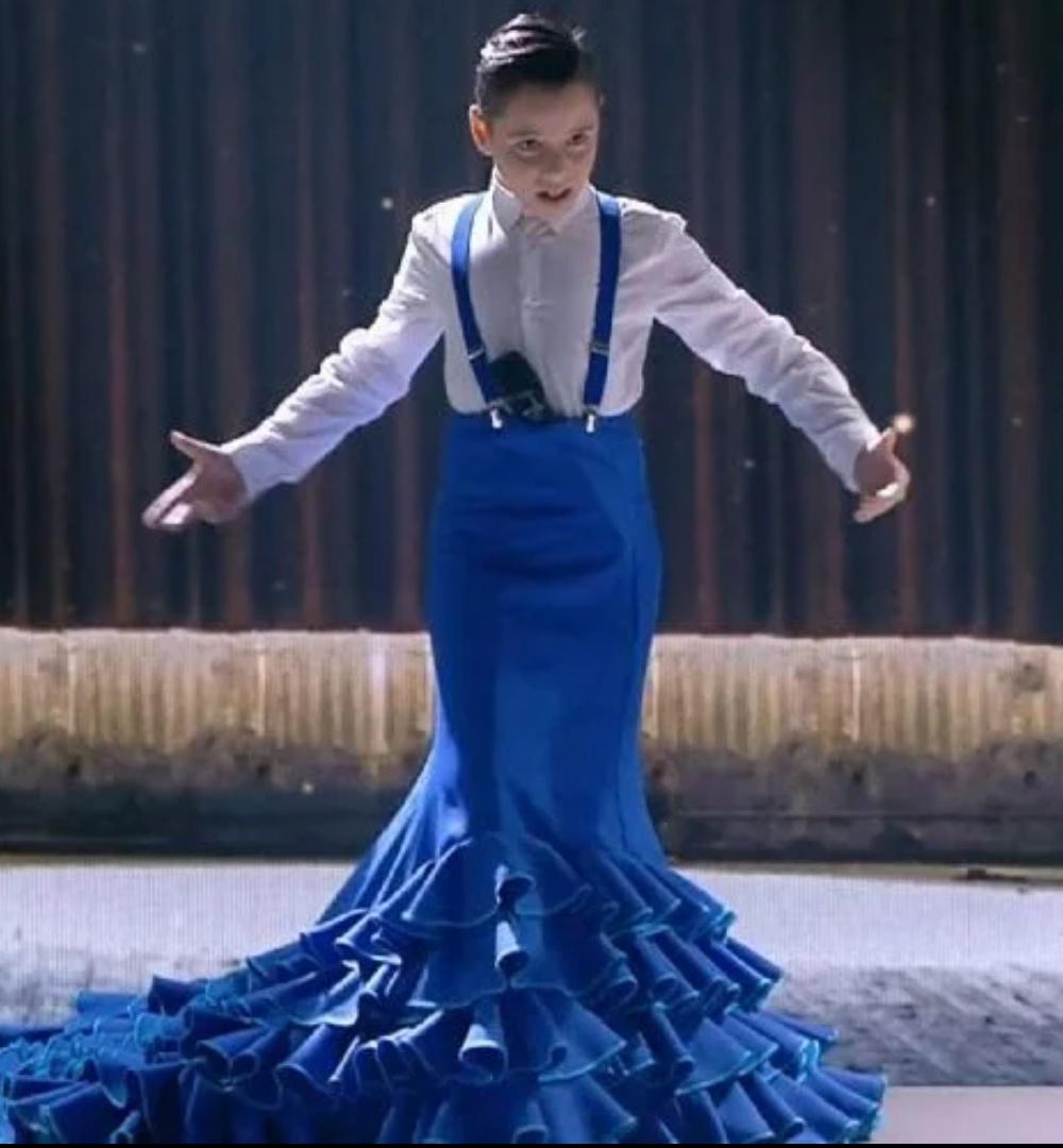bata de cola flamenca idol kids
