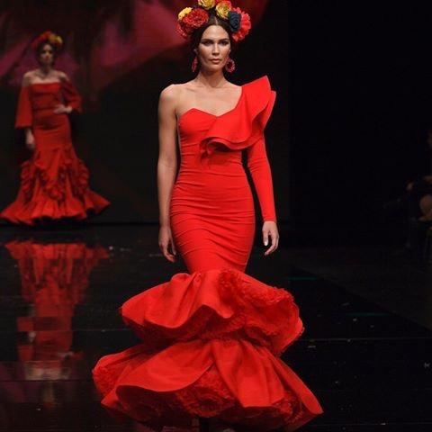 vestido flamenco señora rojo