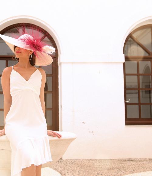 vestido invitada en tejido crepe o satén en todos los colores
